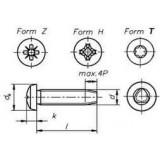 Винт DIN7500 C, D, M- резьбо выдавливающий