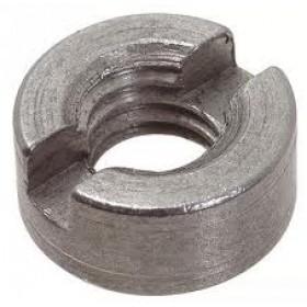 Гайка DIN 546  М 6  круглая шлицевая цинк