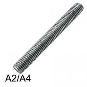 Шпилька DIN 976-1 М12х180 полная резьба А2