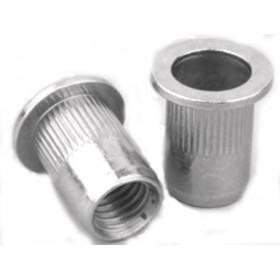 Заклепка резьбовая М6*1,0*15,0, сталь, уменьш. буртик с насечкой